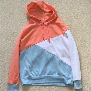 Multi colored hoodie